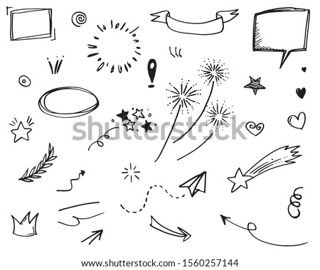 hand drawn set elements  for