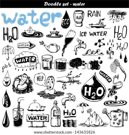 Hand drawn set - H2O
