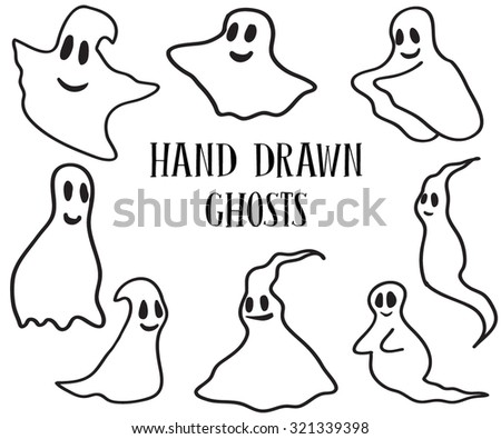 hand drawn set of halloween