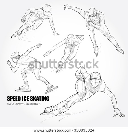 hand drawn set of speed ice