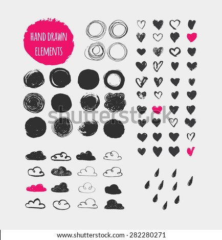 hand drawn shapes  icons