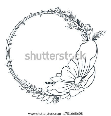 hand drawn simple wreath with