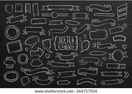 decorative chalkboard background download free vector art stock