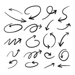 Hand drawn Sketch of Arrow