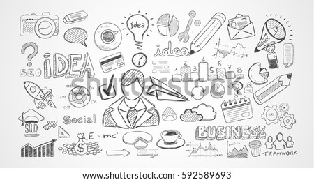 Hand drawn sketches and a lot of infographic design elements and mockups. Ideal forTeamwork ideas, branstorming sessions and generic business plan presentationsl.