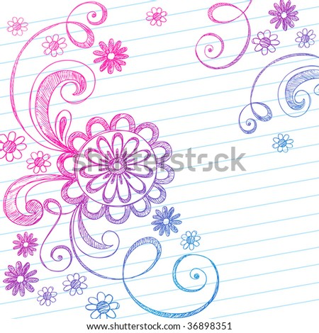 on Lined Paper Background