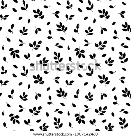 hand drawn small leaves vector