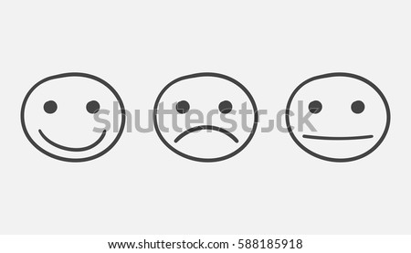 hand drawn smiley icon emotion