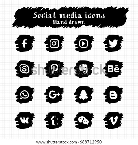 stock-vector-hand-drawn-social-media-icons-set-vector