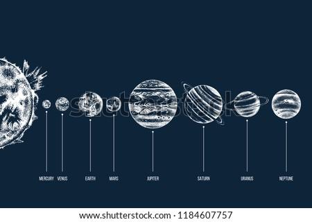 hand drawn solar system