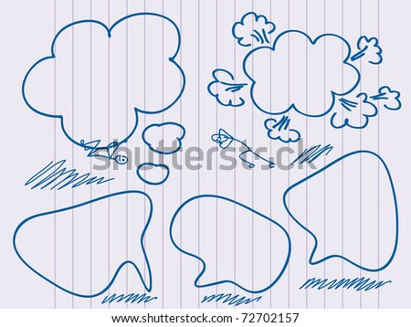 Hand Drawn Speech And Thought Bubble. Visit my portfolio for big collection of doodles and speech bubbles