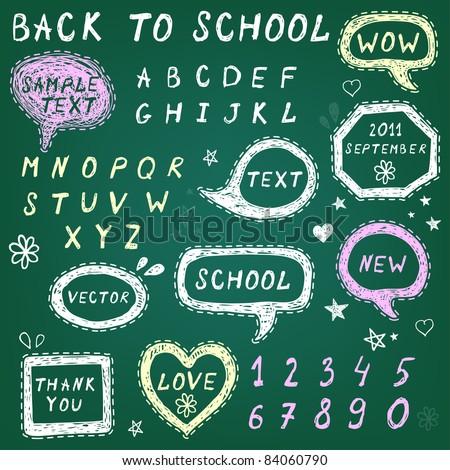 Hand-drawn speech bubbles,Back To School illustration