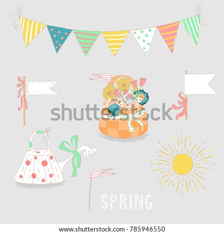 hand drawn spring or summer