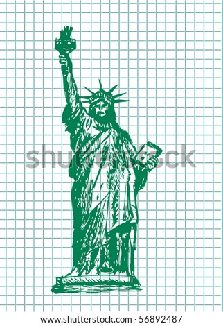 statue of liberty face drawing. statue of liberty face