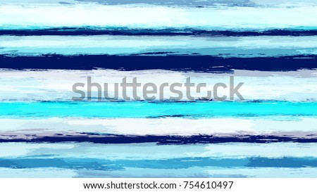 Hand Drawn Stripes in Watercolor Sea Style. Seamless Fashion Print Design Pattern. Cover, Fabric Design Texture. Marine Seamless Striped Background.