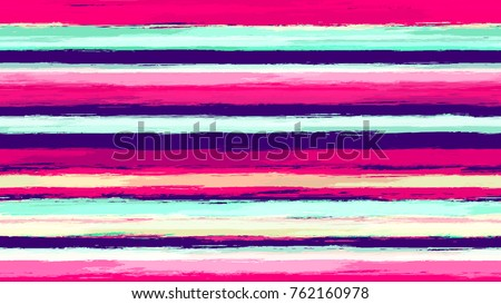 Hand Drawn Stripes in Watercolor Style. Grunge Fashion Texture. Linen, Fabric Background. Holiday Seamless Striped Seamless Pattern.