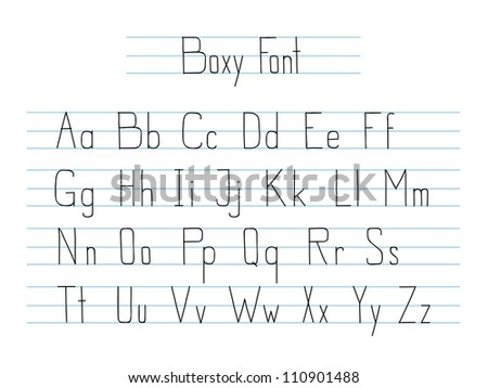 Hand drawn style vector font isolated on white.