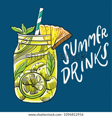 hand drawn summer drinks