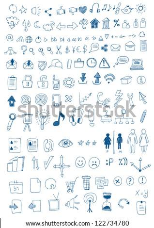 Hand Drawn Symbols - stock vector
