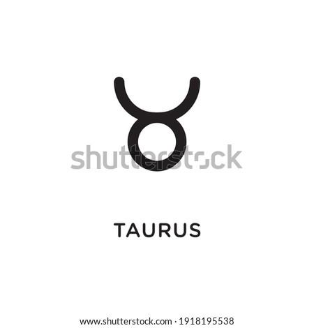 Hand drawn taurus zodiac illustration. Simple line taurus zodiac icon. Taurus vector symbol. Hand drawing taurus sign