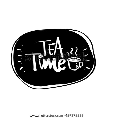 hand drawn tea time vector