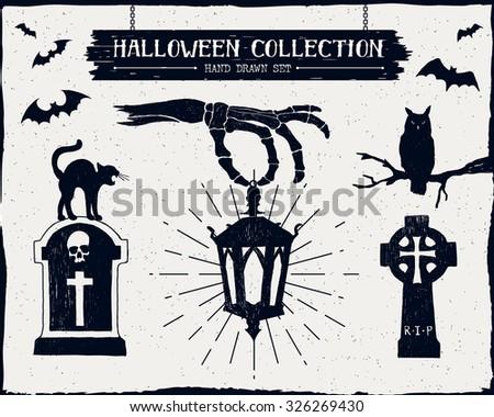 hand drawn textured halloween