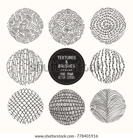 hand drawn textures   brush