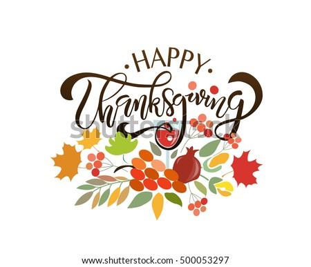 hand drawn thanksgiving