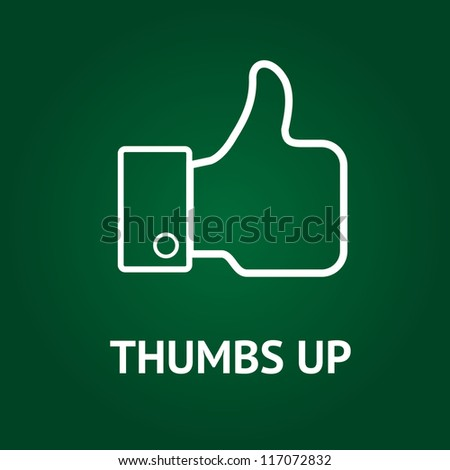 Hand-drawn thumbs up