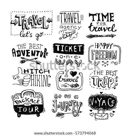 hand drawn travel lettering....