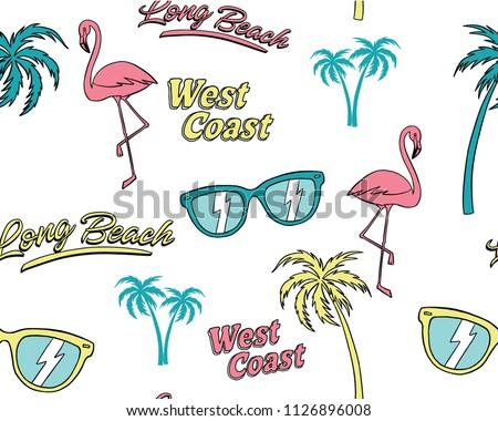 hand drawn tropical elements