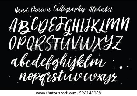 Hand drawn typeface set.