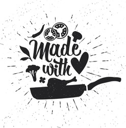 Hand drawn typography poster. Inspirational  typography. Made with Love.