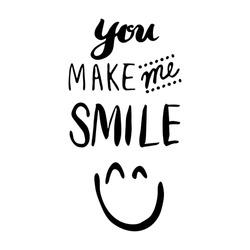 Hand-drawn Typography You make me smile
