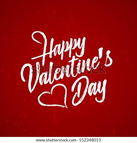 hand drawn valentine's day calligraphy #552348013