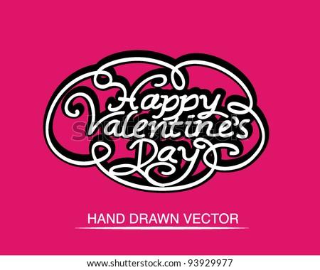 Hand Drawn Valentine's Day Calligraphy