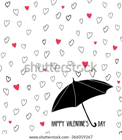 hand drawn valentines card