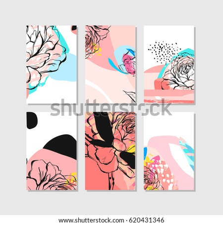 hand drawn vector abstract