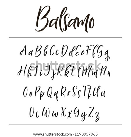 Hand drawn vector alphabet. Calligraphy letters for your design.