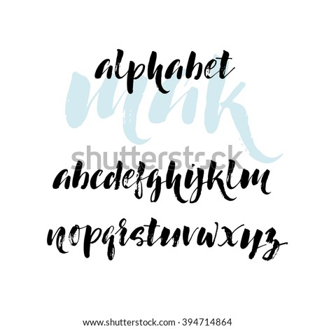 hand drawn vector alphabet