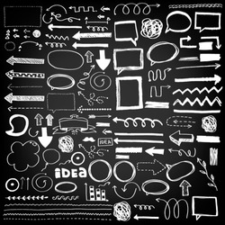 Hand Drawn Vector Arrows, Ribbons, Design Elements, Stripes Set
