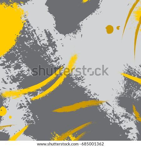 51fdeb58600 Hand drawn vector brush hipster pattern in yellow grey. Stylish geometric  fantasy print. Speed