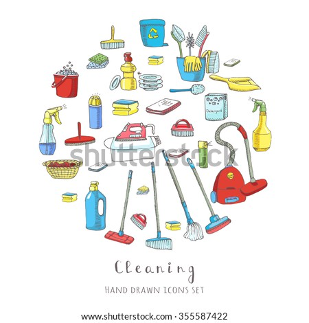 hand drawn vector cleaning