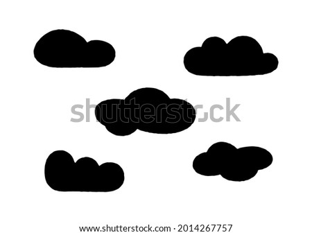 hand drawn vector clouds