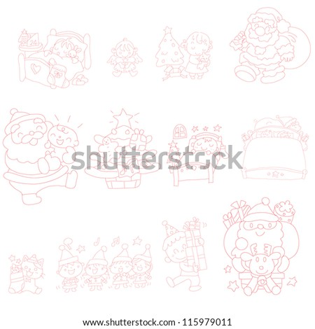 Hand drawn vector doodles of Christmas
