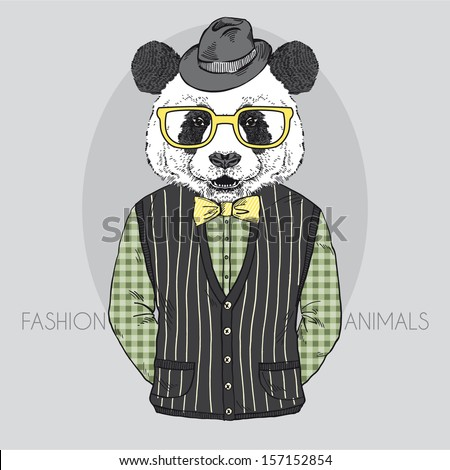 hand drawn vector fashion