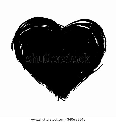 hand drawn vector heart with