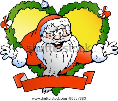 Hand-drawn Vector illustration of an Welcoming Santa Claus