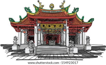of chinese temple
