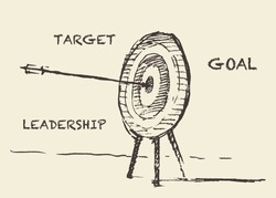 Hand drawn vector illustration of target, sketch